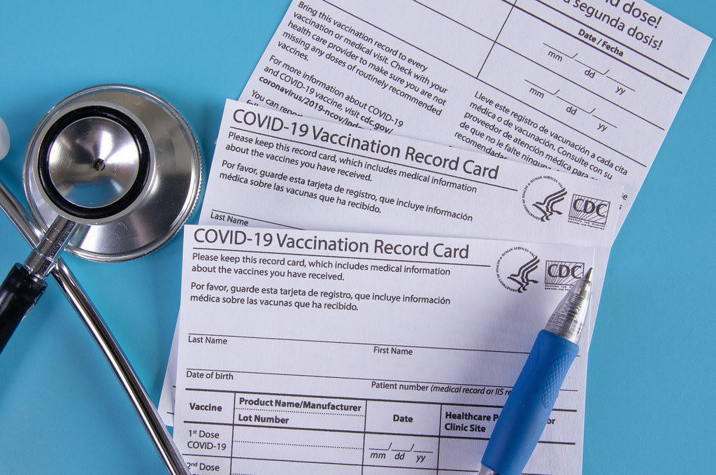 Photo of a COVID-19 Vaccination Card