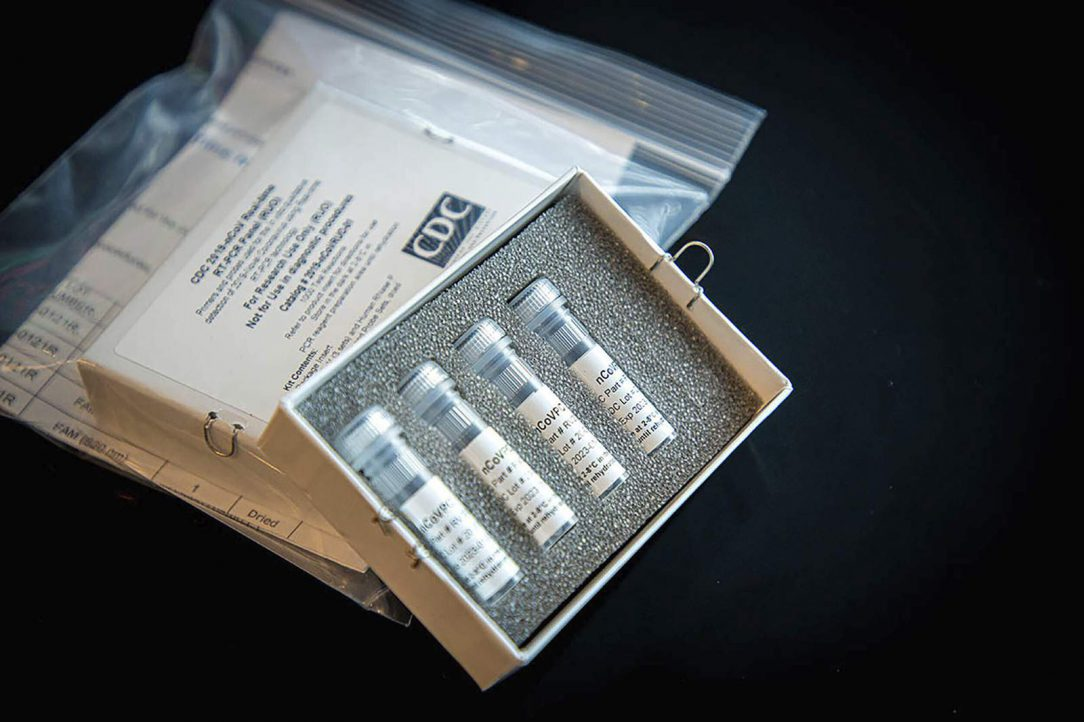 Picture of a COVID-19 test kit from CDC