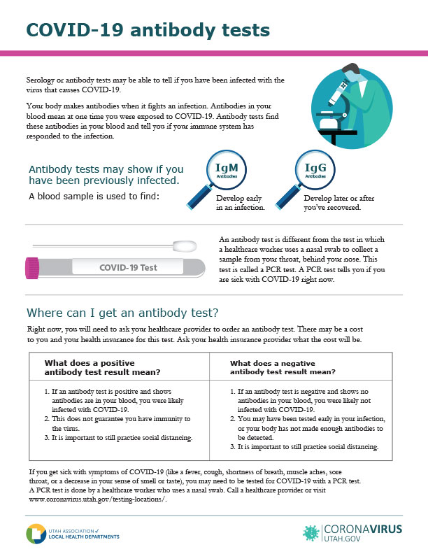 COVID-19 antibody tests flyer