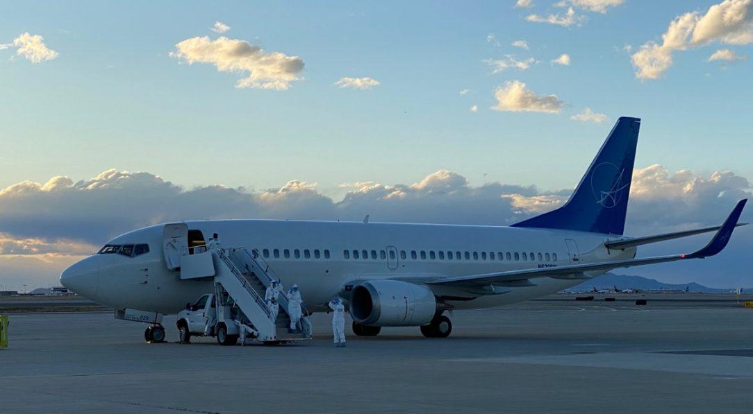 Cruise ship passengers return to Utah Air National Guard base.