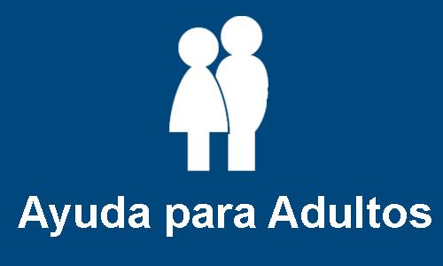 botón de sección de ayuda para adultos