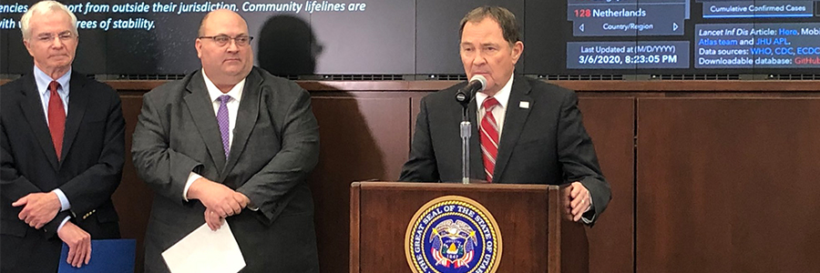 Governor Herbert Announces First Covid-19 Case