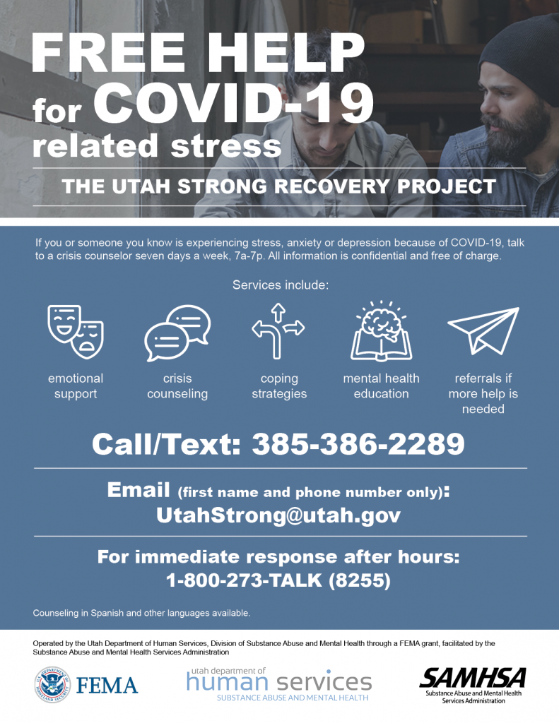 State Offers Free Counseling for COVID-Related Stress ...