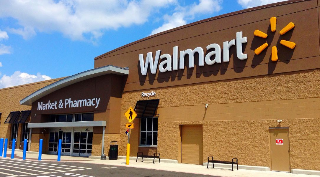 Photo of a Walmart storefront