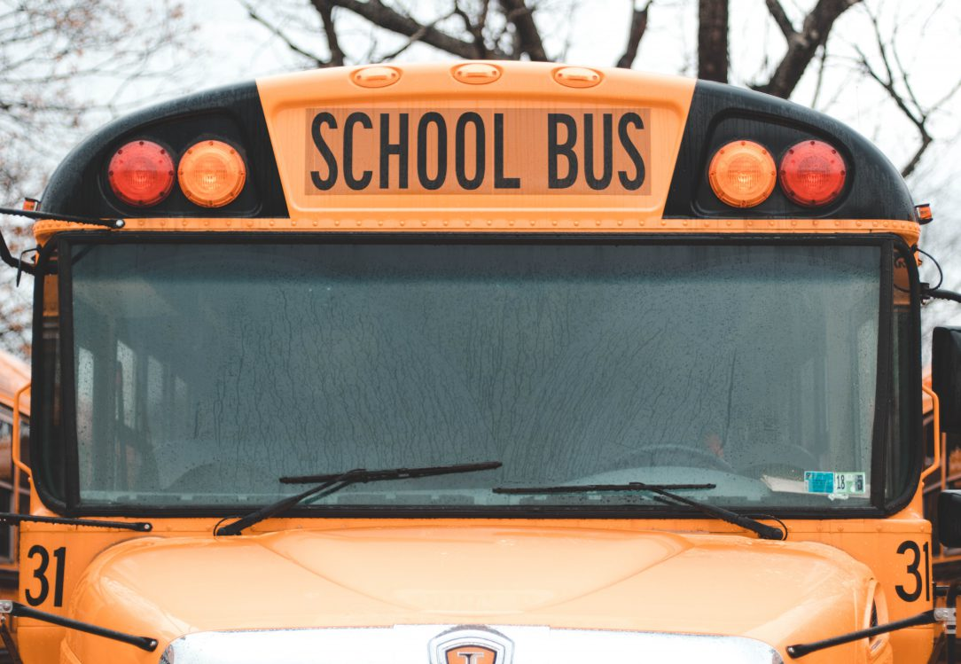 Picture of the front of a School Bus