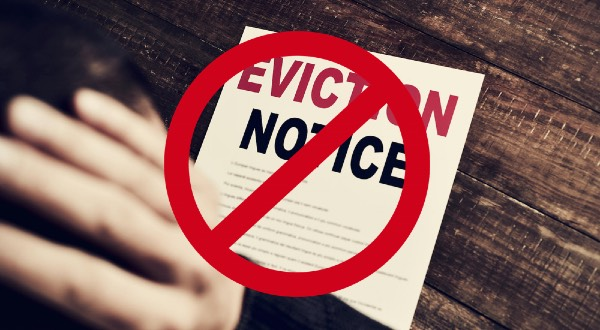 No eviction notice sign