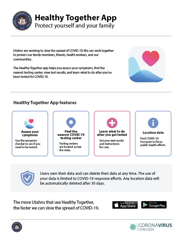 Healthy Together App Flyer
