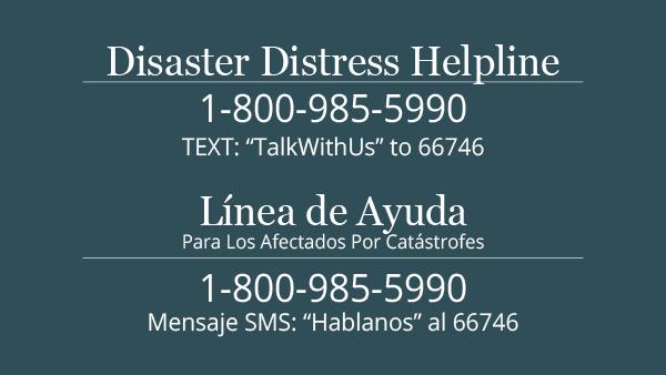 Distaster Distress Helpline Image 1.800.985.5990