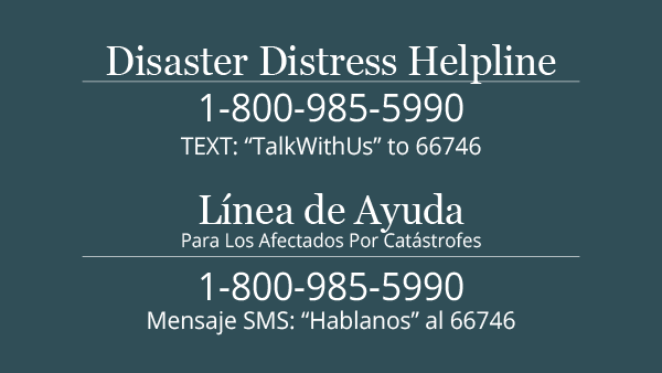 Distaster Distress Helpline Image 1.800.985.5990