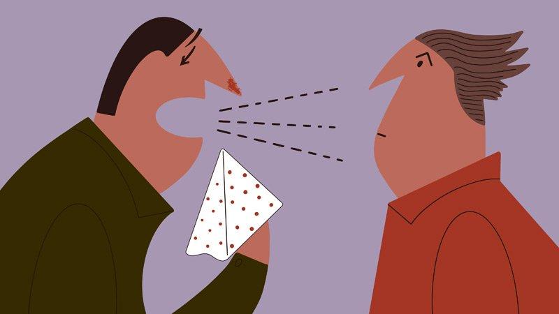 Sneezing illustration
