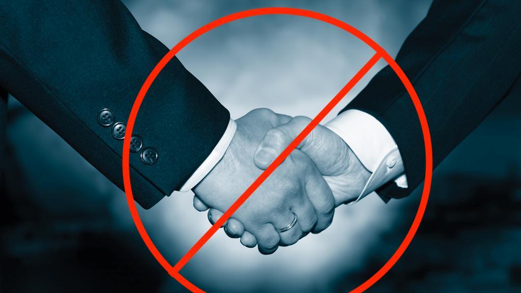 No handshakes