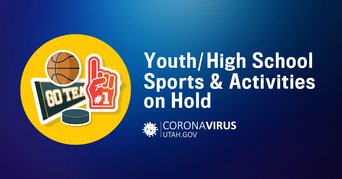 Youth and high school sports and activities are temporarily on hold