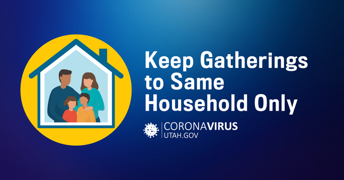 Keep gatherings to your same household only